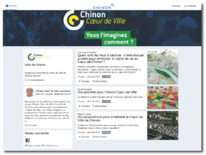 Plateforme d'intelligence collective : Chinon Coeur de ville