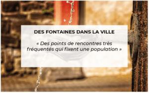 Contributions citoyennes : fontaines dans la ville